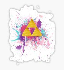 Triforce Splash Sticker