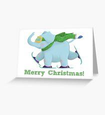 Ski Elephant Greeting Card