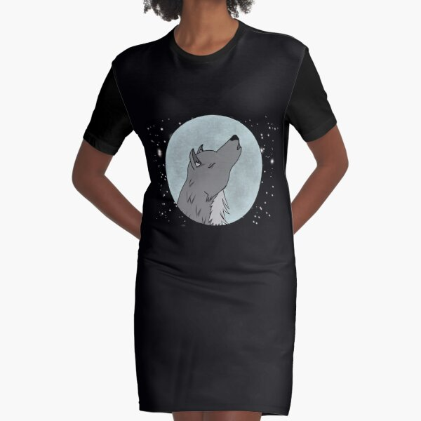 Full Moon Bliss Graphic T-Shirt Dress