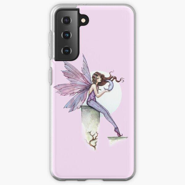 Whispering Moon Fairy Art by Molly Harrison Samsung Galaxy Soft Case
