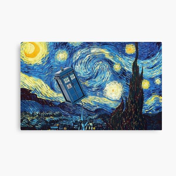 Tardis Van Gogh Canvas Print