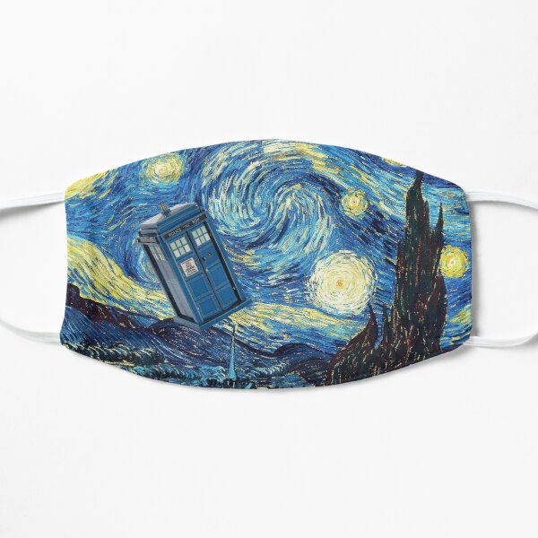 Tardis Van Gogh Flat Mask
