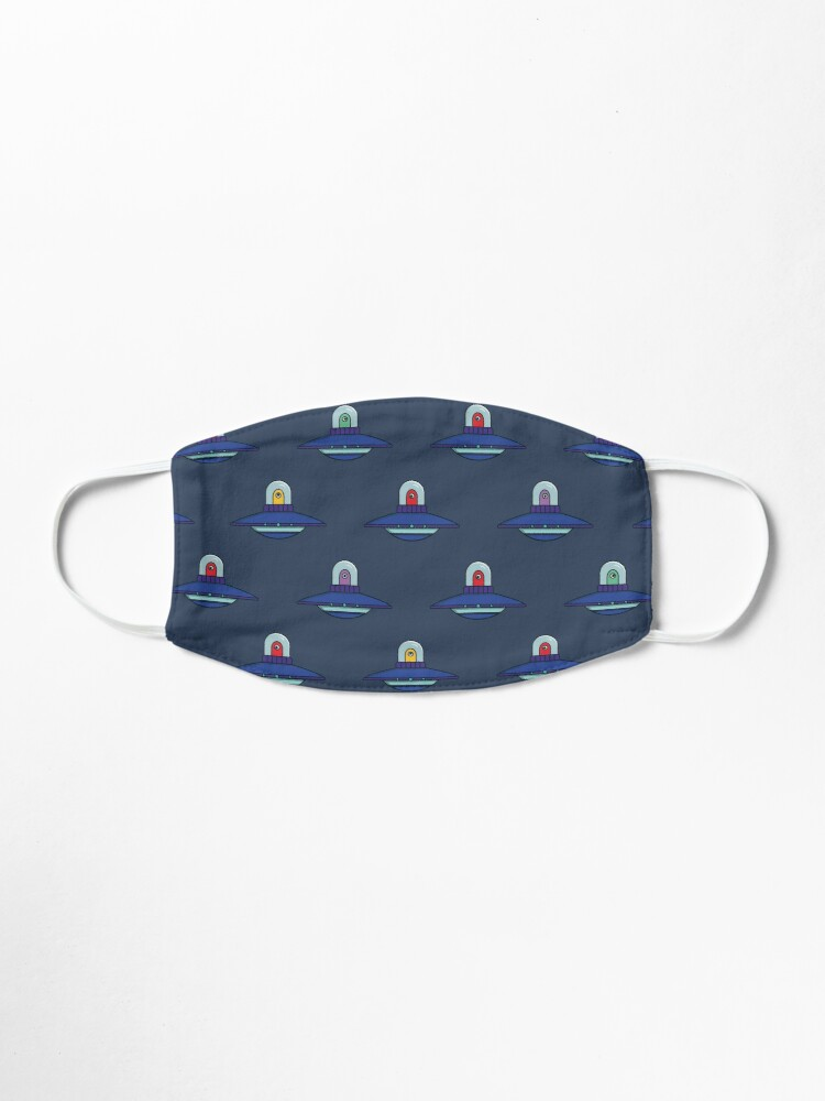 Alternate view of Colorful UFO pattern face mask Mask