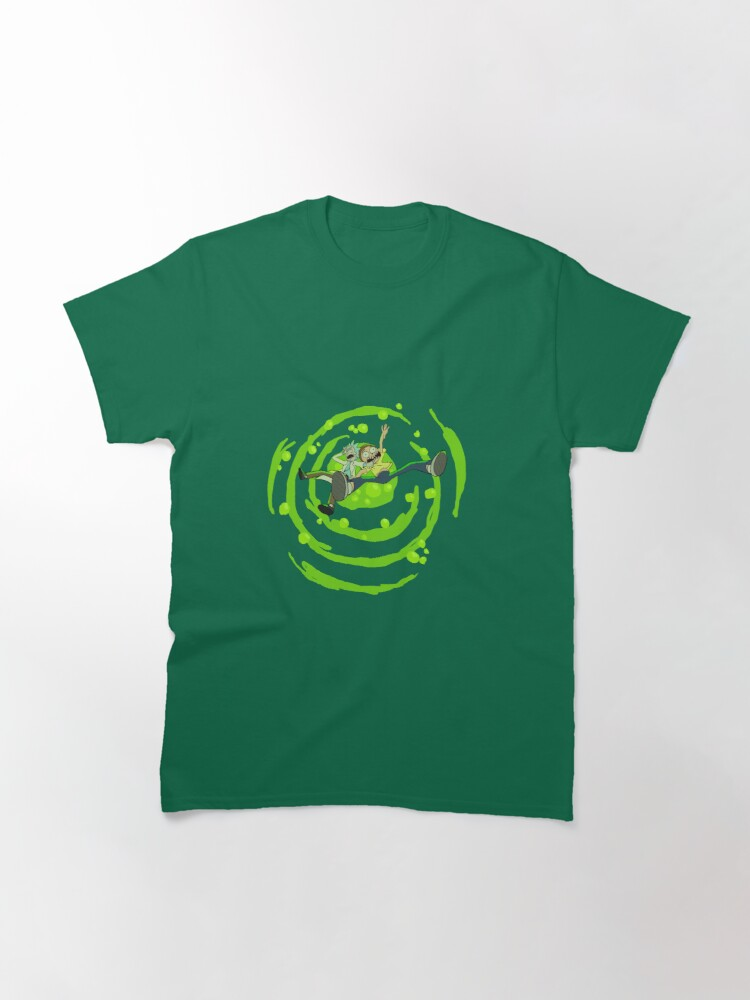 Alternate view of Rick and Morty™ dropping into green vat of acid Classic T-Shirt