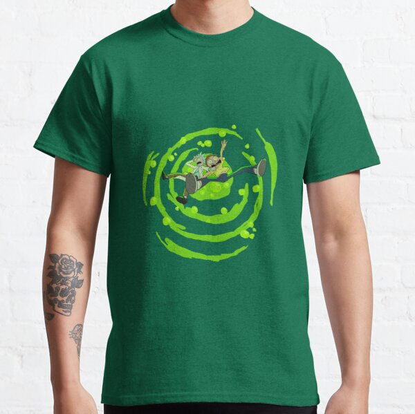 Rick and Morty™ dropping into green vat of acid Classic T-Shirt