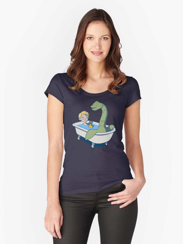 There's something in my bath!! Women's Fitted Scoop T-Shirt Front