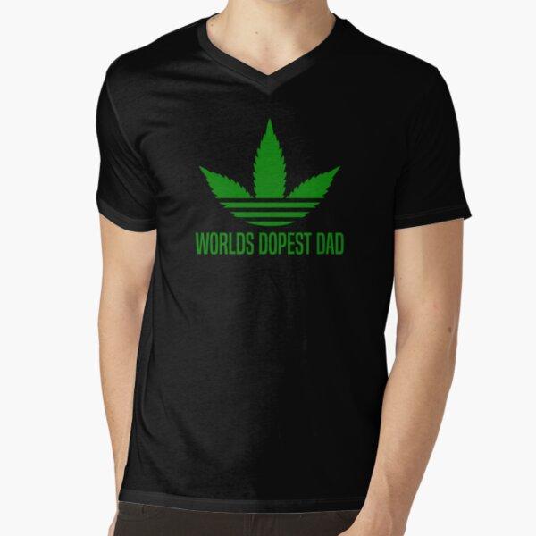 Worlds Dopest Dad V-Neck T-Shirt