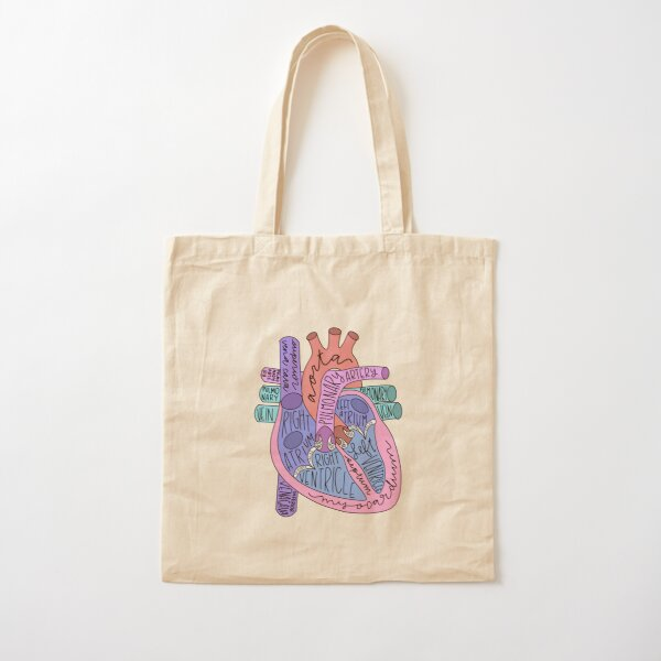 Corazón anatómico Bolsa de algodón