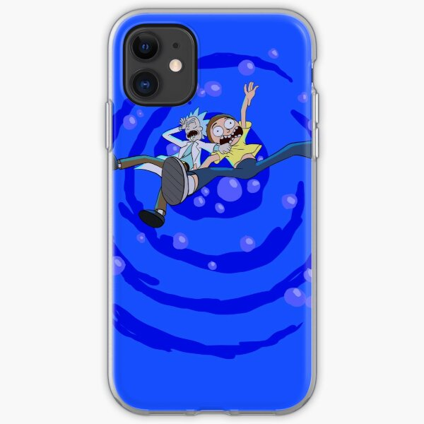 Rick and Morty™ dropping into blue vat of acid iPhone Soft Case