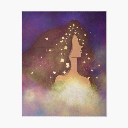 Butterfly Woman Art Board Print