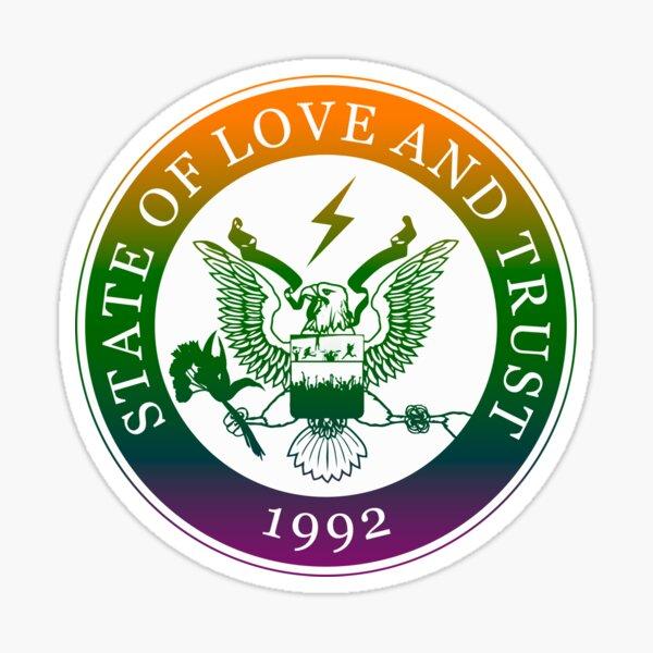 État d'amour et de confiance Sticker