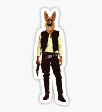 Han Solo Star Wars Dog Sticker