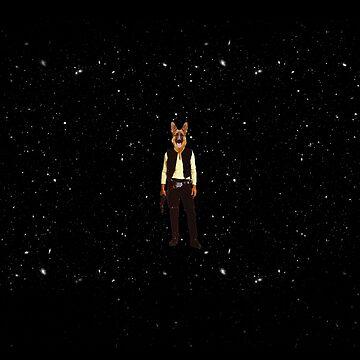 Han Solo Star Wars Dog by crunchyparadise