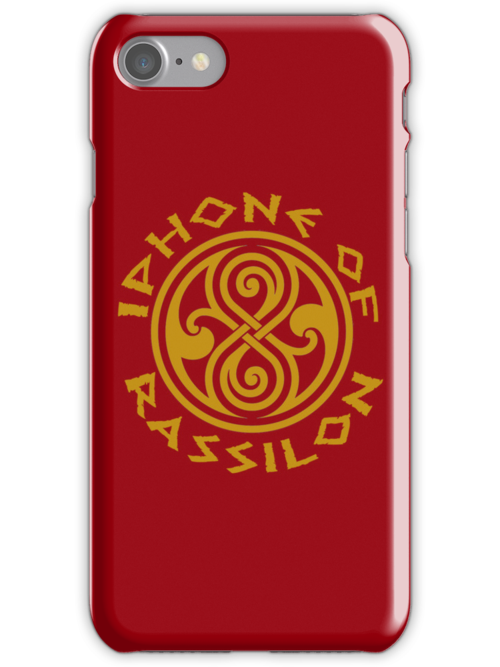 Iphone of Rassilon -red by jammywho21
