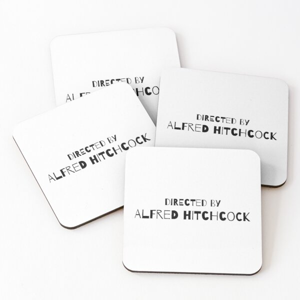 Directed by Alfred Hitchcock Coasters (Set of 4)