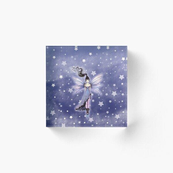 Moondance Fairy Fantasy Art by Molly Harrison Acrylic Block