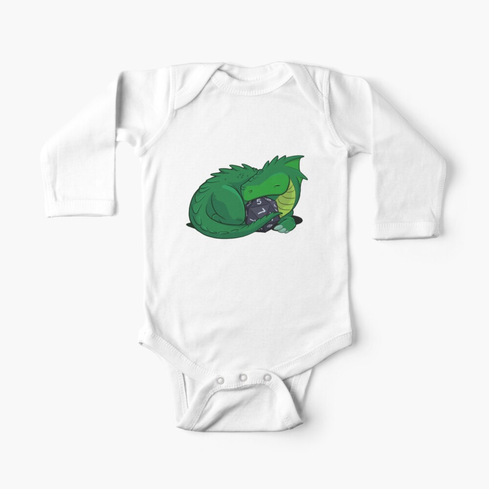 D20 Green Dragon Baby One-Piece
