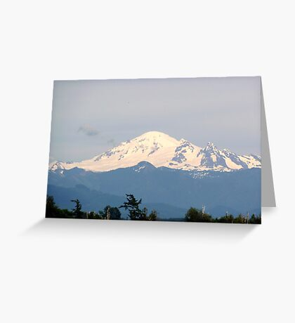 Mount Baker in the early evening Greeting Card