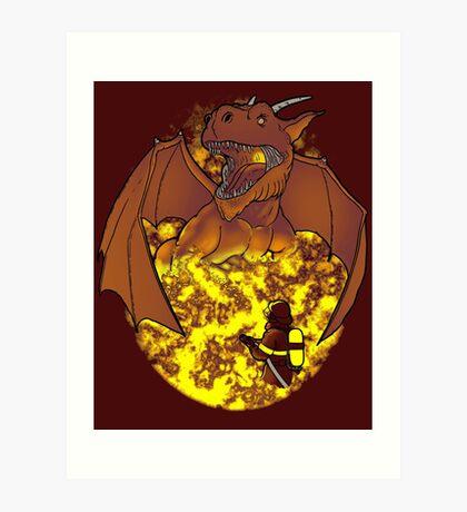 The Fire: an epic fight. Art Print