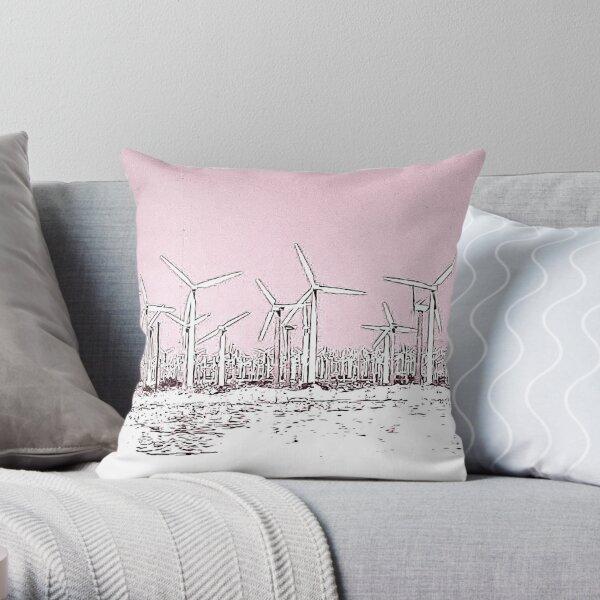 Pink Turbines Throw Pillow
