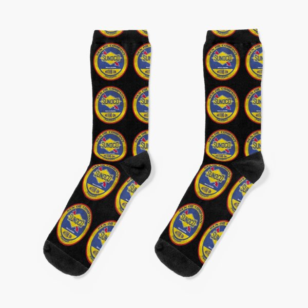 Vintage Sunoco Motorölzeichen Socken