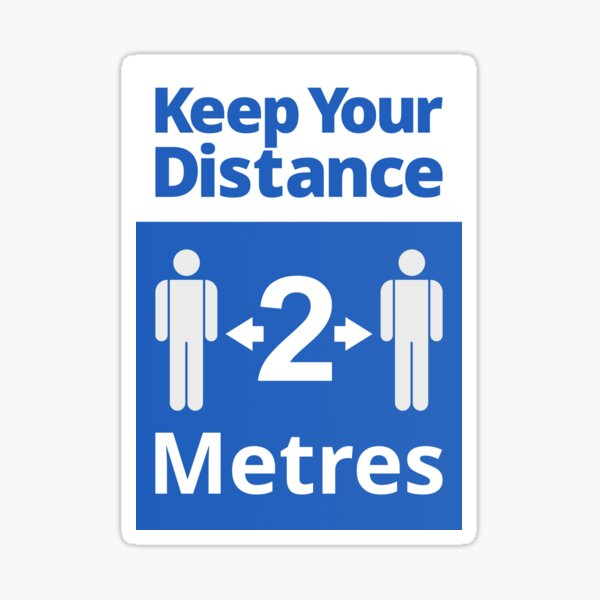 Social Distancing Sign - Keep Your Distance 2 Metres Sticker
