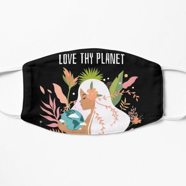Liebe deinen Planeten Flache Maske