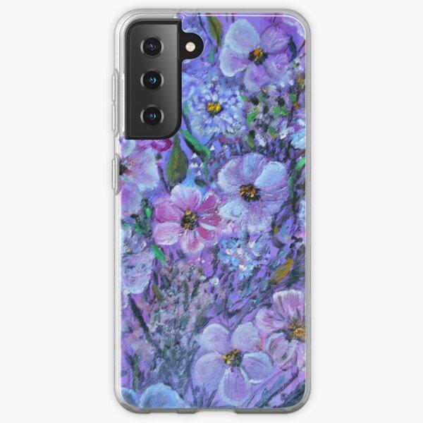 Purple Passion Posies Samsung Galaxy Soft Case