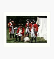 reenactors portraying british soldiers Art Print