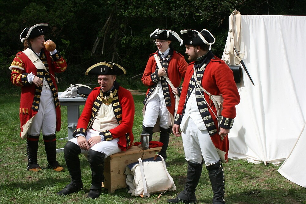 reenactors portraying british soldiers by wolf6249107
