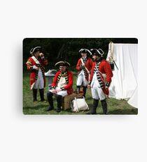 reenactors portraying british soldiers Canvas Print