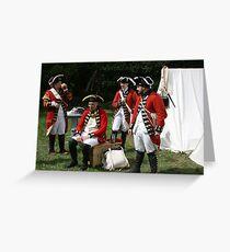 reenactors portraying british soldiers Greeting Card