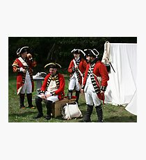 reenactors portraying british soldiers Photographic Print