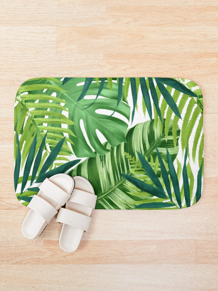 Alternate view of Tropical leaves III Bath Mat