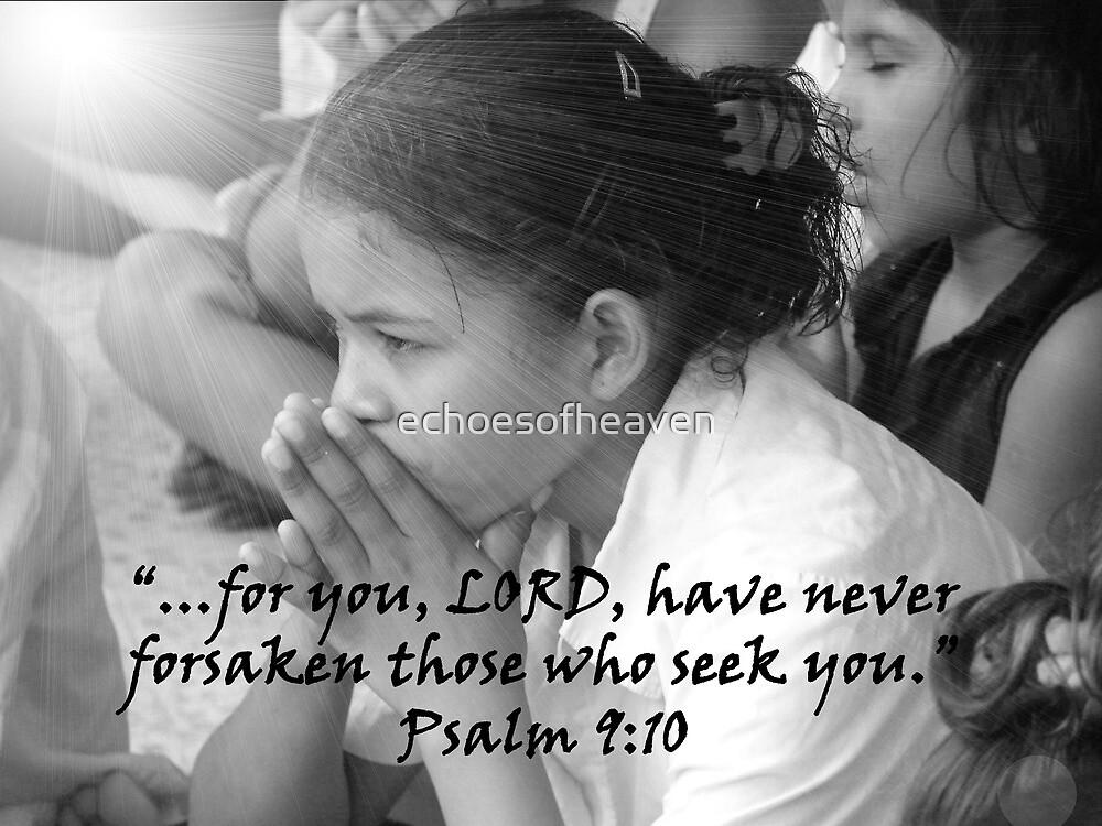 """""""Psalm 9:10""""  by Carter L. Shepard by echoesofheaven"""