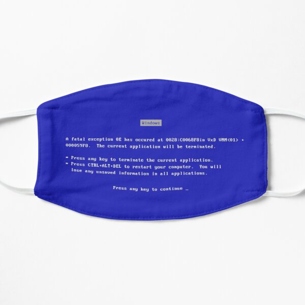 Blue Screen of Death VINTAGE Mask