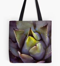 A succulent looking extra succulent this morning...  Tote Bag
