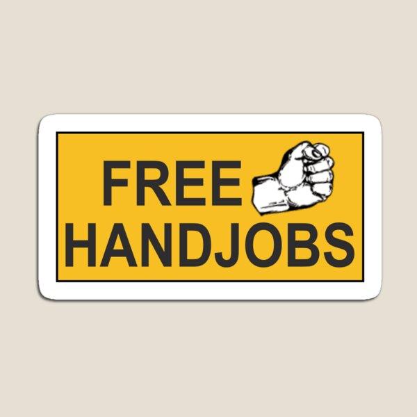 funny rude bumper Free Handjobs Sticker Magnet