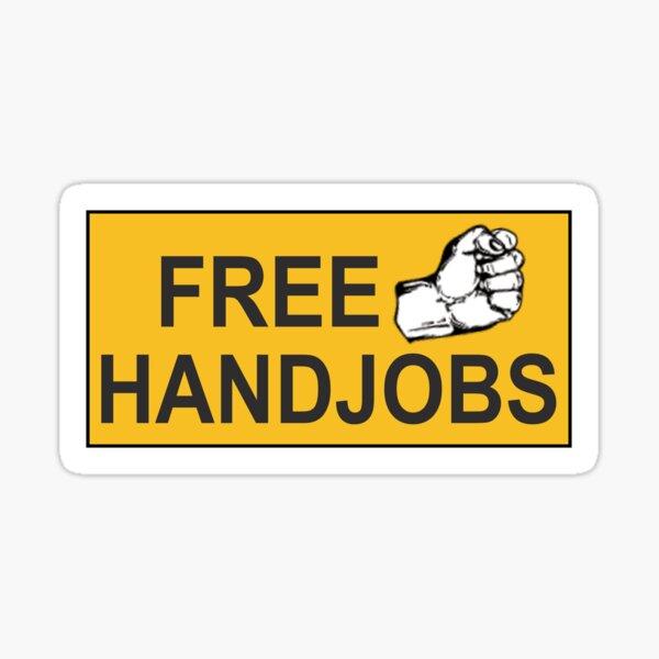 funny rude bumper Free Handjobs Sticker Sticker