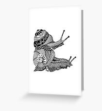 Snails Boho Illustration Greeting Card