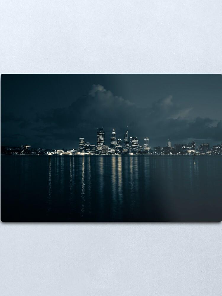 Alternate view of City Lights Metal Print