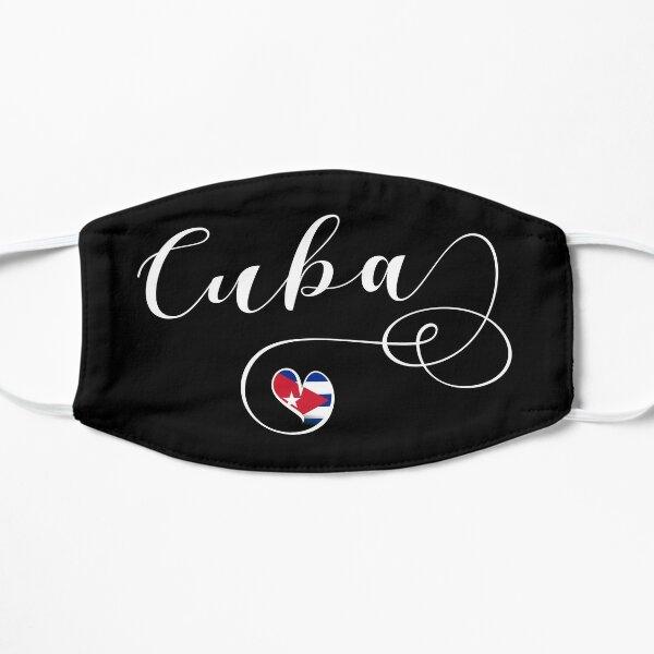Pegatina Cuba, Corazón Cuba, Bandera Cubana Mascarilla plana