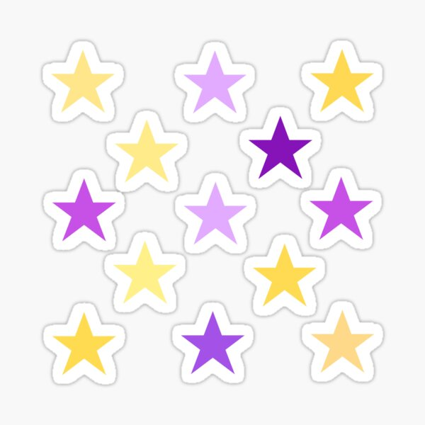 Purple and Gold Star Pack Sticker
