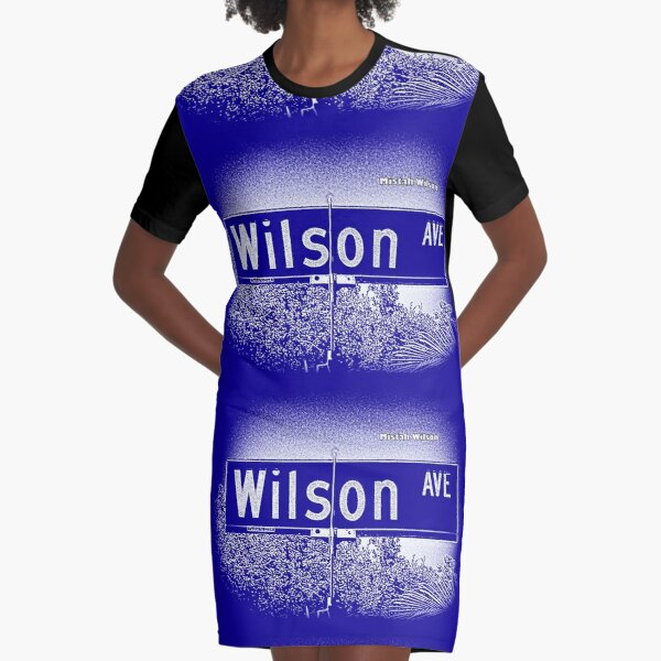Wilson Avenue, Pasadena, CA ROYALE by Mistah Wilson Graphic T-Shirt Dress