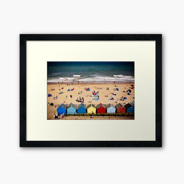 Mundesley Tilt Shift Framed Art Print