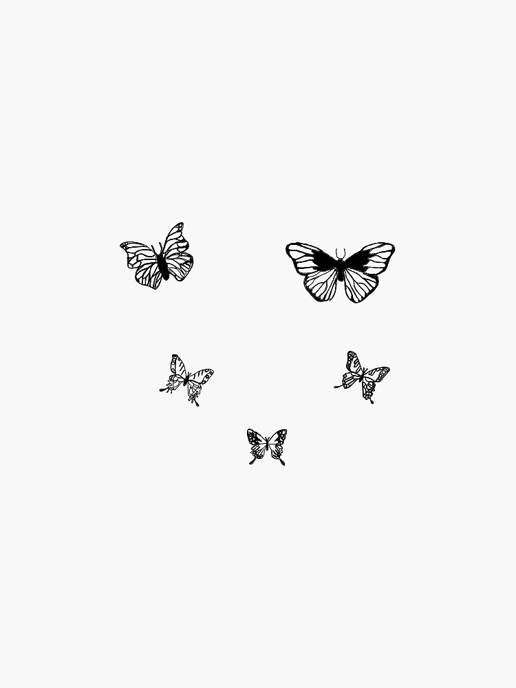 Black and white butterflies by Jessie35