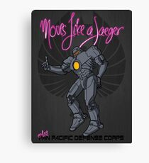 Moves like a jeager. Canvas Print