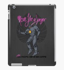 Moves like a jeager. iPad Case/Skin