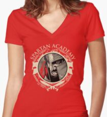 Spartan Academy - Full Color Version Women's Fitted V-Neck T-Shirt