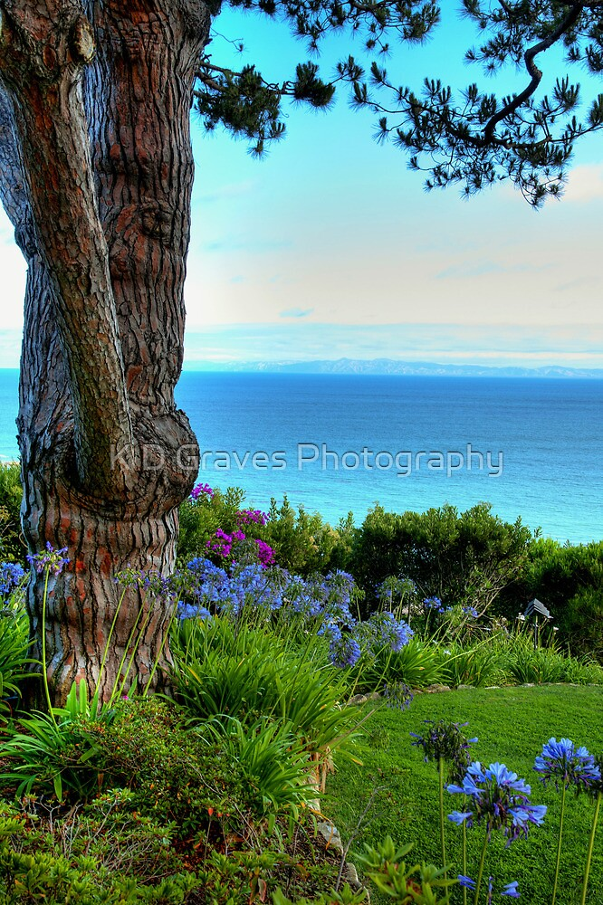 Blue Waters In Palos Verdes California by K D Graves Photography